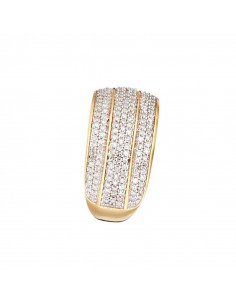 Bague Alliance Eclat Sapphir Or Blanc et Diamant 0,1ct Saphir 0,41ct
