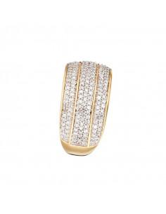 Bague Alliance Eclat Sapphir Or Blanc et Diamant 0,1ct Saphir 0,41ct
