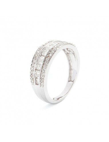 Bague Alliance Possession Or Blanc et Diamant 0,31ct