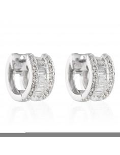 Pendentifs Carré scintillant Or Blanc et Diamant 0,33ct