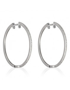 Bracelet Coeur Diam's passion Or Blanc et Diamant 0,08ct