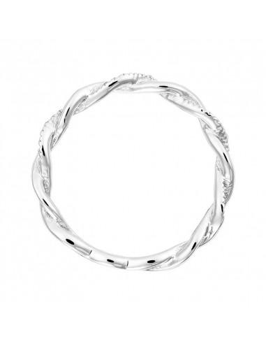 Pendentif Poire Or Blanc et Diamant 0,28ct