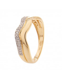 Bague Tour de diamants Or Jaune et Diamant 0,19ct