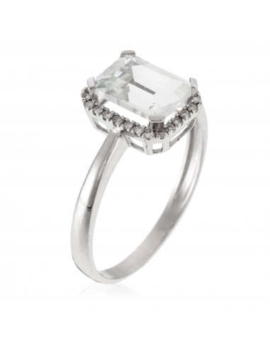 Bague Précieuse Armure Or Rose et Diamant 2,75ct
