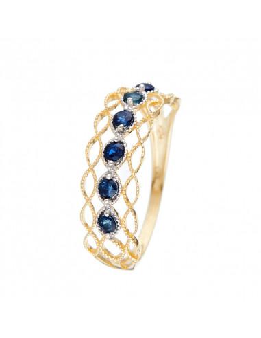 Bracelet Trio de Disques Or Blanc et Diamant 0,75ct