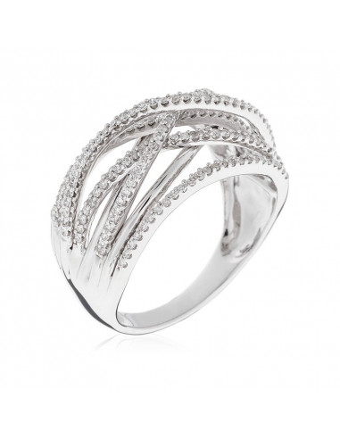 Bague My beautiful Saphirs Or Blanc et Diamant 0,24ct Saphir 1ct
