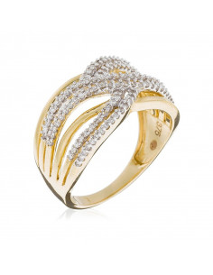 Bague 6 Rangs Or Blanc et Diamant 0,27ct