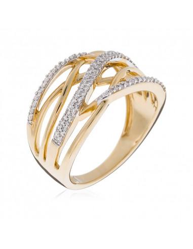 Bague Magical Or Jaune et Diamant 0,3ct  0,3ct