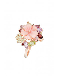 Boucles d'Oreilles Anneaux Baguettes Diamant 0,74ct Or Rose