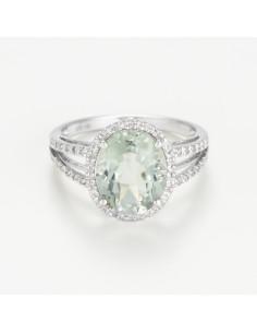 Boucles d'oreilles Créoles Lumineuses Diamant 0,34ct Or Blanc