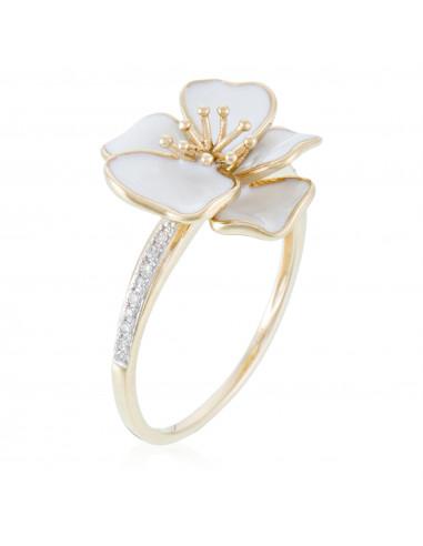 Bague Alliance Ronde de Diamants Diamant 0,74ct Or Blanc