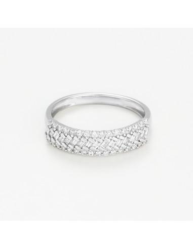 Bague Néphrée Diamants 0,32ct Tanzanite 1,74ct Or Blanc