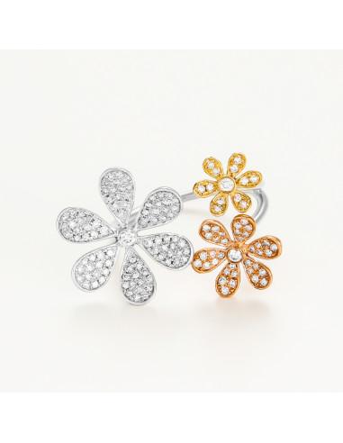 Bague Neige de Diamants Diamants 0,75ct Or Blanc