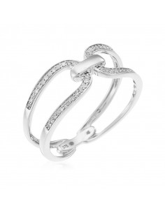 Bague Coup de foudre Or Blanc et Diamant 1,2ct