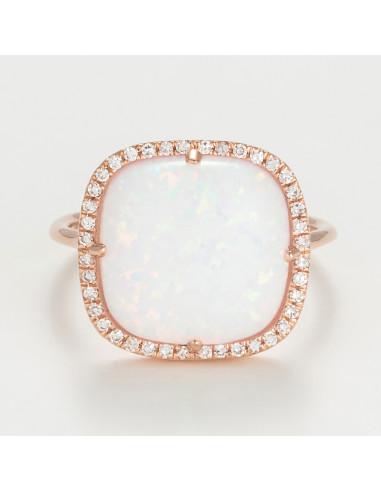 Bague Hypnose florale Diamants 0,5ct Or Blanc