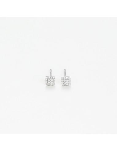 Boucle d'oreilles Créoles Joyaux Diamants 1,55ct Or Blanc