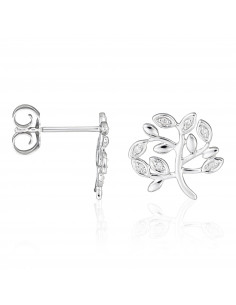 Boucle d'oreilles Créoles Rails Diamants 1,39ct Or Blanc
