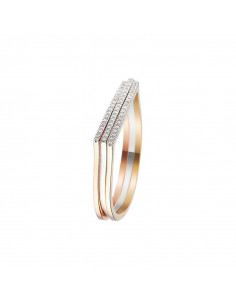 Bague For Life Or Rose et Diamant 0,07ct