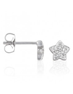Boucles d'oreilles Fiori Diamants 0,61ct Or Blanc