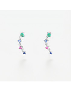 Boubles d'oreilles Eve Diamants 0,93ct Or Blanc