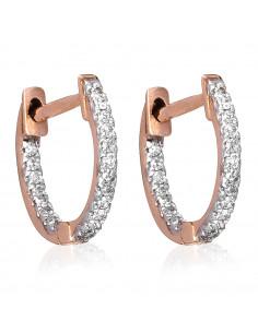 Boucle d'oreilles Créoles Allée Royale Diamants 0,8ct Or Blanc