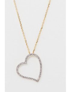 Collier Jolie croisée Diamants:0,18ct/26