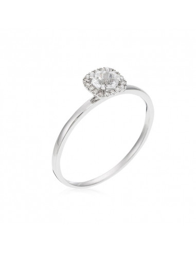 Bague Brillant Duo Or Blanc et Diamant 0,52ct