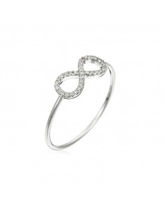 Bague Croisés Aériens Or Blanc et Diamant 0,49ct