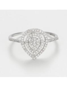 Bague Entortillement Or Blanc et Diamants 0,06cts