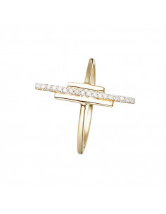 Bague Coppia Or Jaune et Diamant 0,23ct