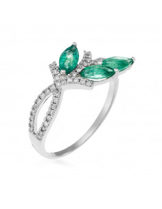 Bague Queen Or Blanc et Diamant 1,22ct