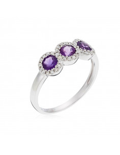 Bague Amazonia Or Blanc et Diamant 0,38ct