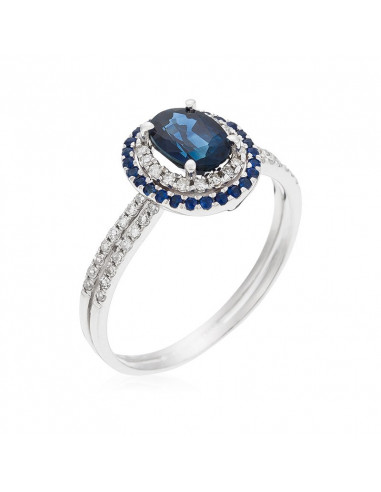 Bague My Turn Or Blanc et Diamant 0,3ct