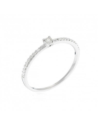 Bague Belle Alliance Or Blanc Et Diamant 0 08ct Diamanta Paris