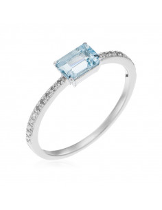 Bague Eternelle Or Blanc et Diamant 0,15ct