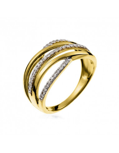 Bague Guapa Or Jaune et Diamant 0,1ct
