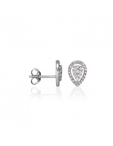 Bague Sparkling link Or Blanc et Diamant 0,05ct