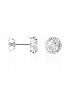 Bague Précieuses Divines Or Blanc et Diamant 0,05ct Multipierres 2,34ct