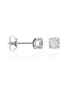 Bague Divine Topaze 10 Or Blanc et Diamant 0,1ct Topaze 5,3ct