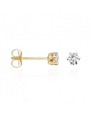 Bague Juste Or Jaune et Diamant 0,07ct