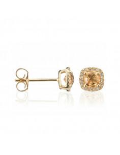 Bague Impériale Or Rose et Diamant 0,08ct Quartz fumé 6,81ct