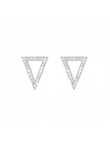 Bague Pavage de Saphirs Or Blanc et Diamant 0,26ct Saphir 4,96ct