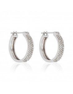 Bague Pierres en folie Or Blanc et Diamant ct Multipierres 1,16ct