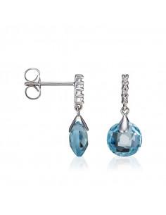 Bague Rosalie Or Blanc et Diamant 0,02ct Améthyste 1,71ct