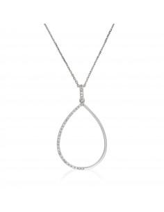 0a7fb8f2675 Boucles d oreilles Forteresse ronde Or Blanc et Diamant 0