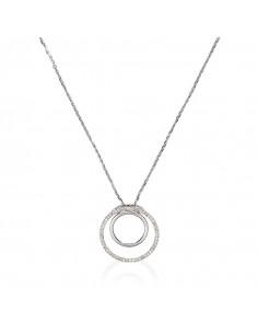 Boucles d'oreilles Doha Or Blanc et Diamant 0,12ct