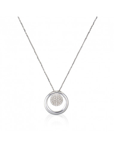 Boucles d'oreilles Fleur idéale Or Blanc et Diamant 0,52ct