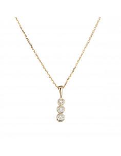 Boucles d'oreilles Demi croisés Or Blanc et Diamant 0,27ct