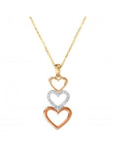 Boucles d'oreilles Gouttes d'amour précieuses Or Blanc et Diamant 0,29ct