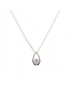 Boucles d'oreilles Allée Princière Or Blanc et Diamant 0,21ct